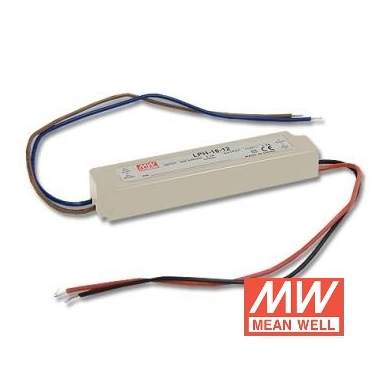 18W LED Maitinimo šaltinis Mean Well 12V IP67