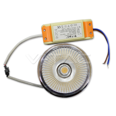 20W LED lemputė V-TAC, AR111, 20°, Sharp LED, 6000K (šaltai balta).