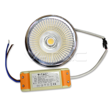 20W LED lemputė V-TAC, AR111, 40°, Sharp LED,  3000K (šiltai balta) 2