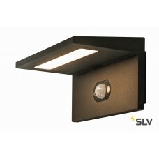 ANGOLUX SOLAR WL LED outdoor recessed wall light, anthracite, 3000K