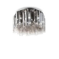 Ceiling lamp with 10 lights COMPO, E27, transparent