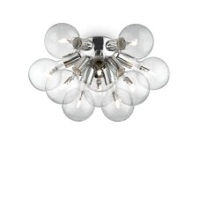 Ceiling lamp with 10 lights DEA, E27, amber color
