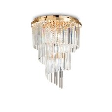 Ceiling lamp with 12 lights CARLTON, E14, gold color