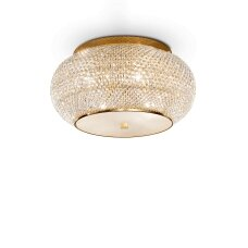 Ceiling lamp with 6 lights PASHA', E14, gold color