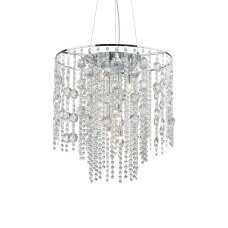Suspended lamp with 10 lights EVASIONE, G9, chrome