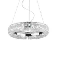 Suspended lamp with 10 lights QUASAR, G9, chrome