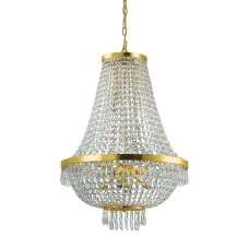 Suspended lamp with 12 lights CAESAR, G9, gold color
