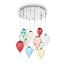 Suspended lamp with 12 lights CLOWN, G9,