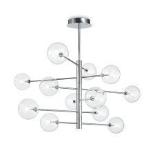 Suspended lamp with 12 lights EQUINOXE, G4, chrome