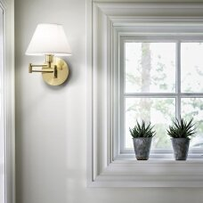 Wall lamp with 1 light BEVERLY, E14, gold color