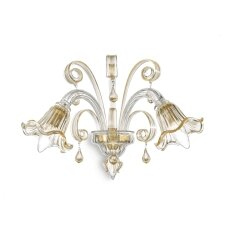 Wall lamp with 2 lights CA' D'ORO, E14, transparent